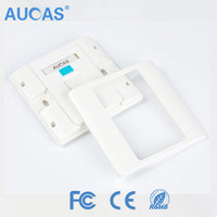 fiber faceplate with SC/LC/ST/FC / rj45 cat5e cat6 network faceplate / single port ABS plastic faceplate