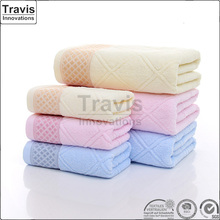 Jacquard Dobby Hem Bath Towels With Diamond Lattice