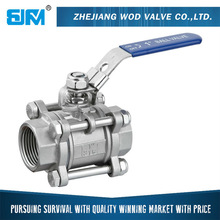 Durable-hot-sales Customized stainless steel CF8 CF8M 1000WOG thread 3pc ball valve