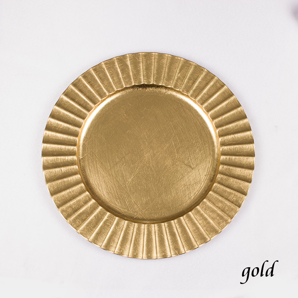 Wholesale Charger Plates Wedding Golden