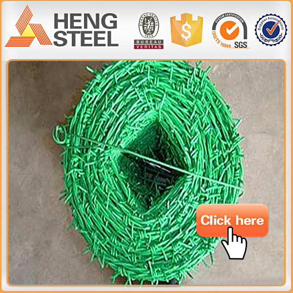 PVC coated barbed steel wire