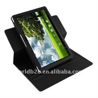 360 Degree Rotating Stand Up leather case for Asus TF101