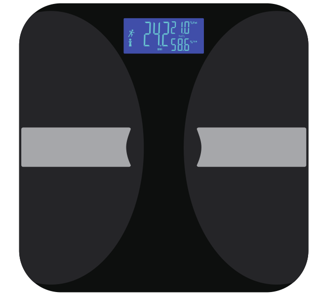 NEW Personal Bluetooth Body Fat Analyzer Scale with Large LCD Display