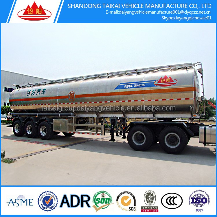 45000 liters 3 axle aluminum alloy fuel tanker/tank semi trailer factory price for sale
