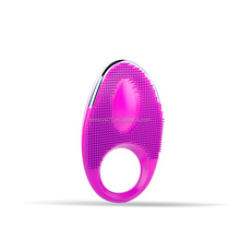 2017 Sex Toys in India for Men Pink Purple Waterproof 20 Speeds Silicone Vibrating Cock Ring