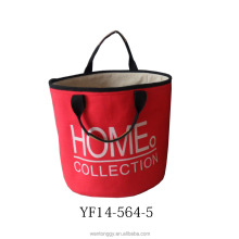 2015 new style HK fair functional and easy canvas storage basket