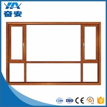 Hot selling high quality aluminum casement window with blinds inside