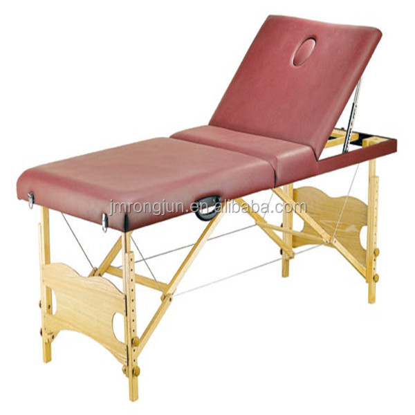 wooden frame folding portable full body massage bed facial bed for sale RJ-6607