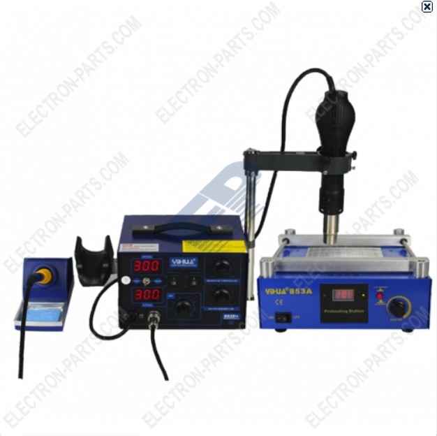 YIHUA 862D+853A 2 in 1 IR preheating station bga soldering station combined-220v