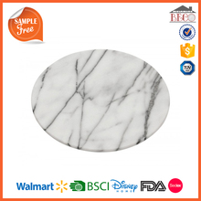 China Supplier Melamine Material Marble Cheese Plate