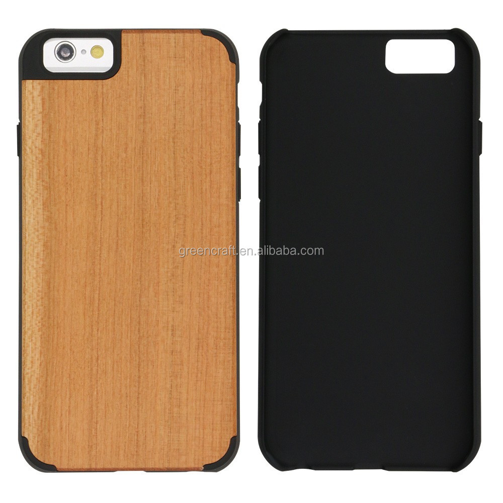 Slim Wooden Cell Phone Cover For Iphone 6 Plus Case Custom