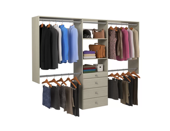 Bedroom embedded bespoke closet system clothing storage unit luxury design for home and bedroom clothing  furniture