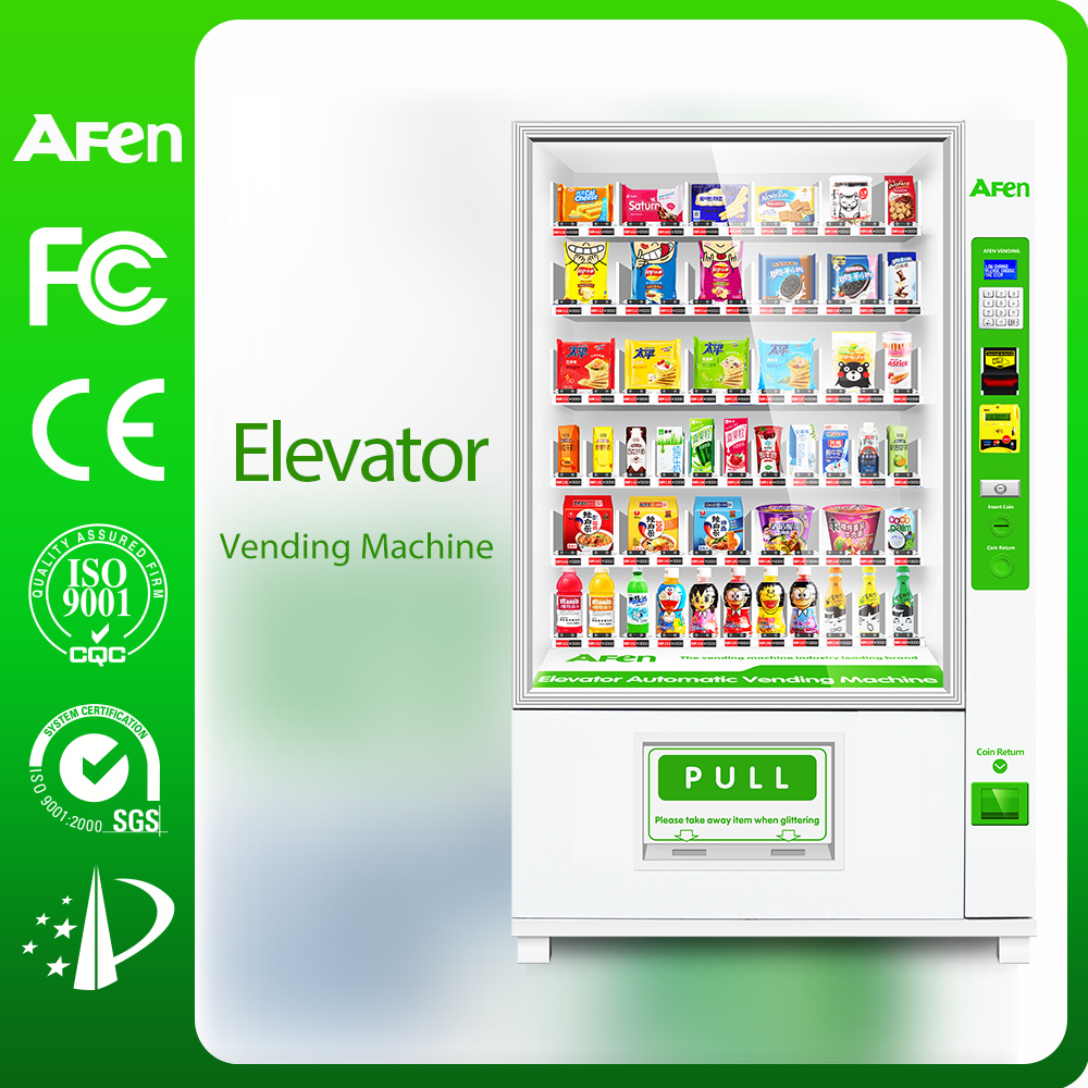 automatic elevator fast food soup pizza Vending machine with 3G