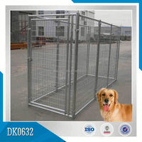 Reasonable Price Large Galvanized Steel Dog Kennel With Wire