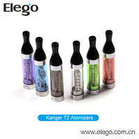 Wholesale Long Wick Colorful Original Kanger T2 Clearomizer 2.4ML with Fast Shipping
