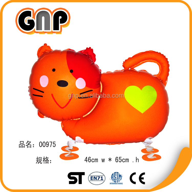 Customized Inflatable Advertising Cat Shape Printed Helium Cartoon Balloon for Celebration Day