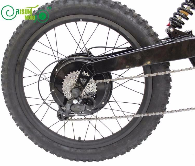 RisunMotor Exclusive Customized e-Motorcycle Style Super Mountain eBike/72V 3000W FC-1 Stealth Bomber Electric bicycle