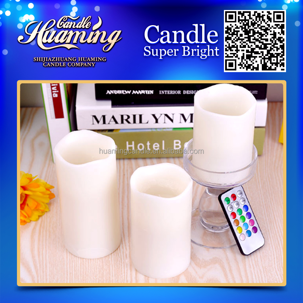 flameless remote control with timer LED candle