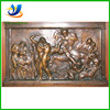 Wall bronze relief sculpture