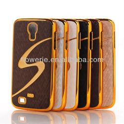 FL1018 2013 New S- Line Luxury Designer Leather Chrome Hard Back Case For Samsung Galaxy S4 i9500