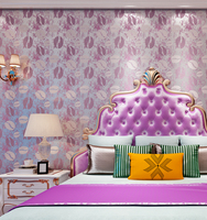 0.53*10M purple foaming technology design velvet wallpaper