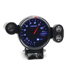 "Blue 3.75"" Car Refit LED Speed Meter Kit with Shift Lamp and Stepper Motor RPM"
