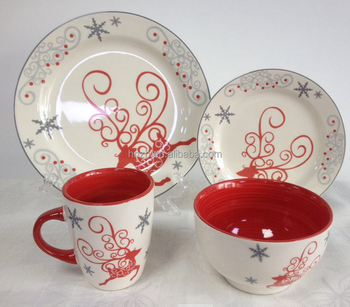 Wholesale Color Glazed Decal Stoneware Villeroy and Boch Dinnerware Set