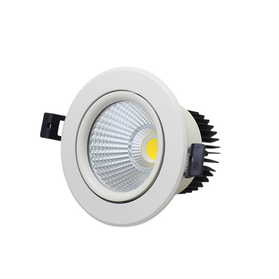 Supermarket lighting COB Round Dimmable surface mounted Recessed 12w LED <strong>Downlight</strong>,7w 15w 30w 40w indoor led down lights