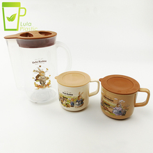 Coffee Jug Plastic Custom Milk Jug Water Pitcher Cold Water Container Juice Jug Water Pot Kettle with 2 Cups