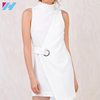 YIHAO Custom New Style Fashion White Plain Blank Ladies Dresses Girdling Sleeveless Classical Ladies Dresses