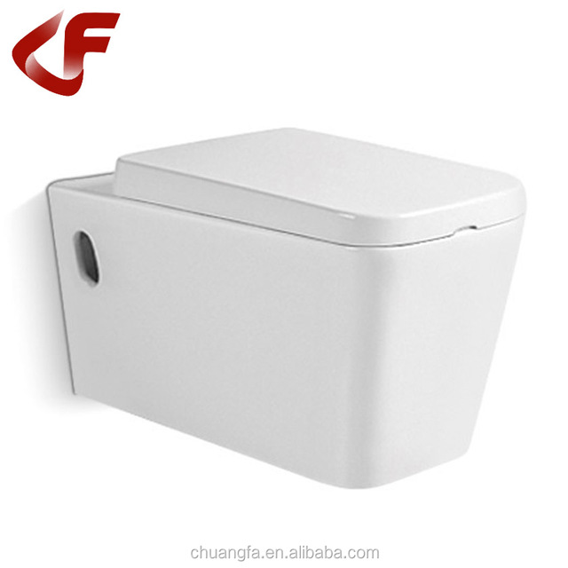 White color wall mounted european water closet without tank