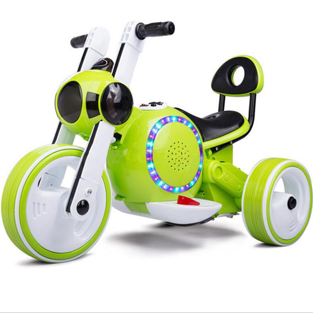 2018 hot sale kids battery motorcycle/3 wheel baby electric motorcycle with led lights