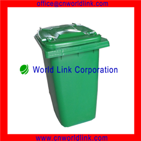 HDPE Green Color Plastic Outdoor Trash Bin