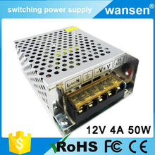 universal AC/DC 50W 12v 4a adapter / 12v 4.2a amp led switch power supply with CE