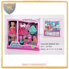 Fashion changing garments barbie toys with pretty skirts