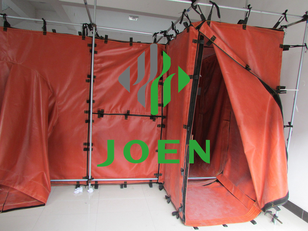 Flame retardant panel/canva for 2x2x2m safe welding habitat