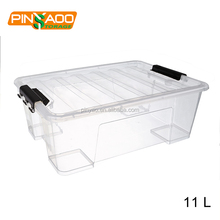 11L Eco-Friendly Durable Clear Plastic Container With Handle