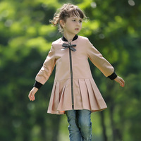 Pettigirl Pink Baby Girl Bow Jacket Autumm Kids Clothing OC80720-1 Only Coat