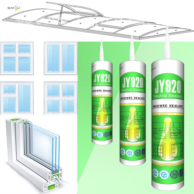 New arrival JY920 neutral curing water based glue fireproof silicone sealant rubber adhesive