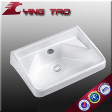 pedestal basin fixing with wall hair washing counter top ceramic washbasin with faucet