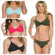 OEM Service Multi Colors Front Elastic Scrunch bikinis, sexy bikinis for girls