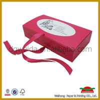 hair extension packaging box white