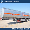 Titan tri-axle stainless steel 50000l milk tanker trailer for sale