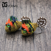 Artficial colorful peacock feather fly fishing flies