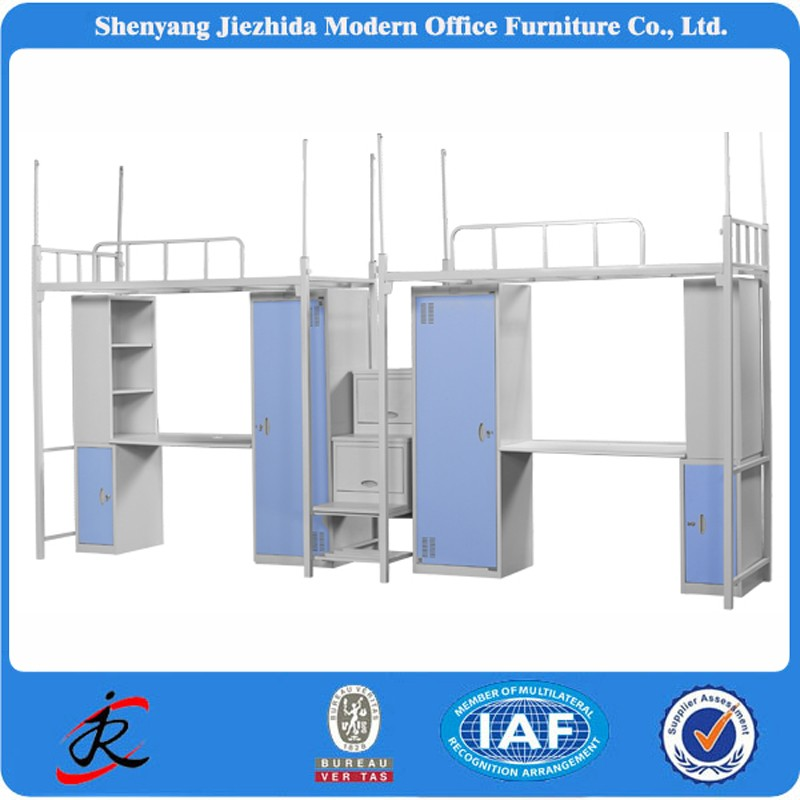 cheap detachable metal frame double prison bunk bed