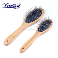 Yangzhou Yingte wood handle S/L pet comb with stainless steel pin