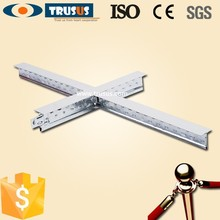 CE AND ISO Approved Metal Construction Material Zinc Galvanized T-bar Suspended Ceiling Grid
