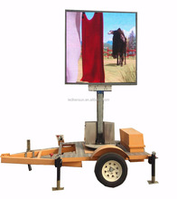 P10mm led advertising trailer display with solar panel power