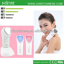 Handheld Rechargeable IPL LED light photon galvanic microcurrent portable skin tightening beauty machines