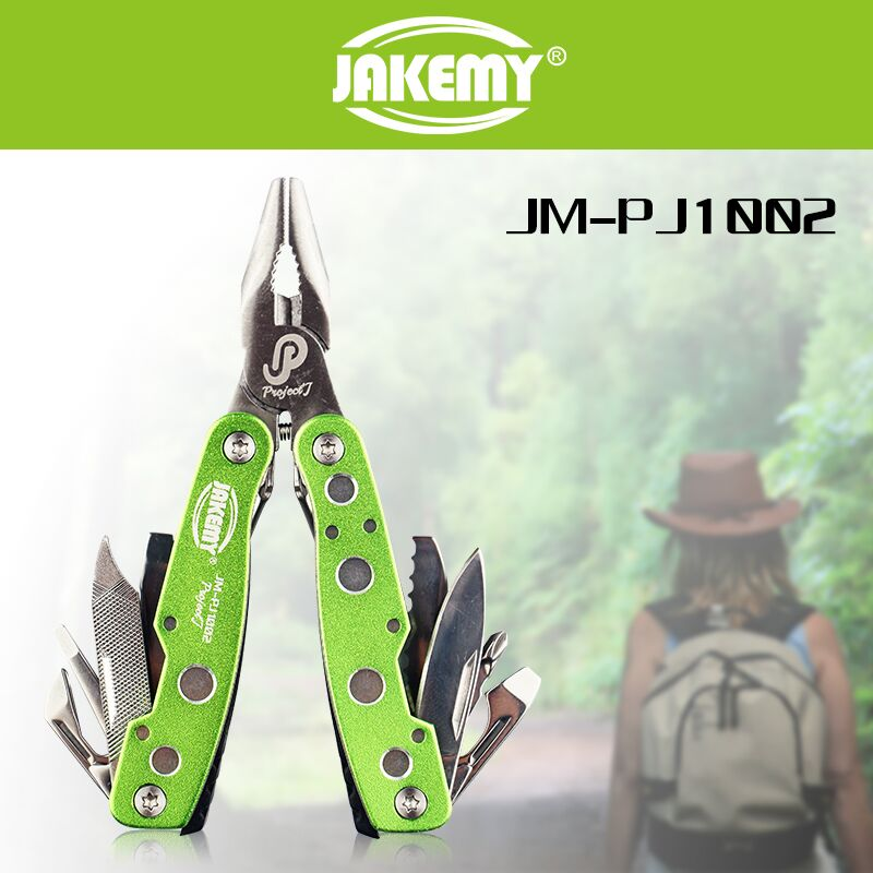 Outdoor multi function tool survivor knife kit with all types of multi tool pliers